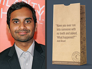 Aziz Ansari Is Newest Star to Appear on Chipotle Paper Cups and Bags (Photos)