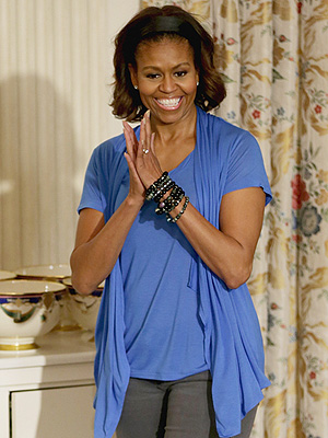 Michelle Obama Cooking Light