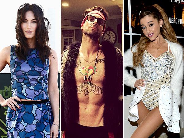 Megan Fox Adam Levine and Ariana Grande