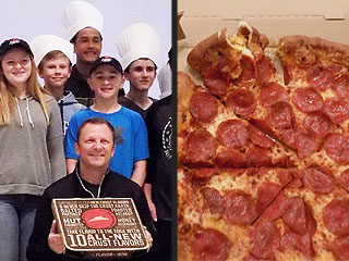 Pizza Hut Made These Kids' Bacon & Mac 'n' Cheese Pretzel Crust Pizza Come to Life