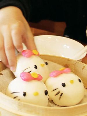 Hello Kitty buns