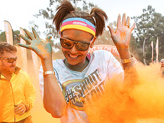 Mel B. Completes 'Happy, Colorful, Messy' Color Run 5K