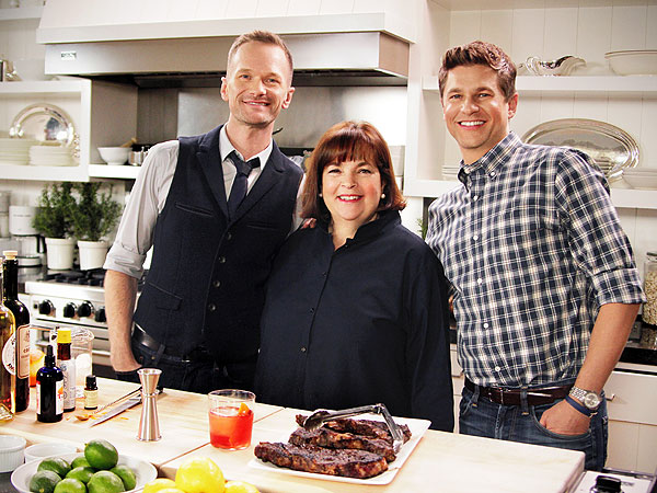 ina garten, neil patrick harris & david burtka cook together