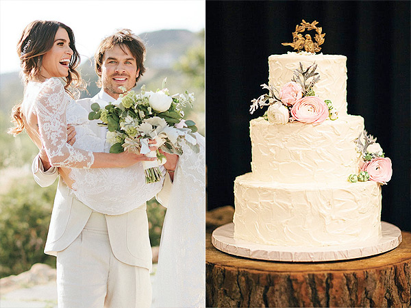 Nikki reed and ian somerholder wedding cake photos and details glass jar photography junglespirit Images