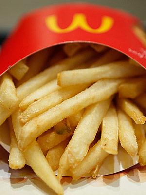 Emmys Backstage McDonald's Fries