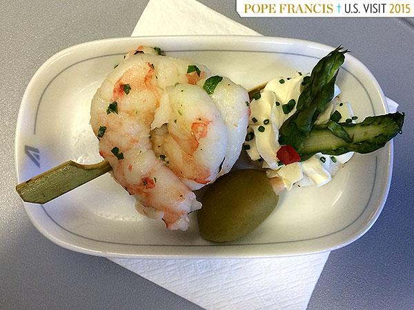 Pope plane shrimp
