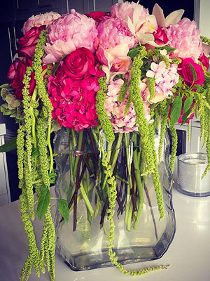 Khloe Kardashian flower arrangement