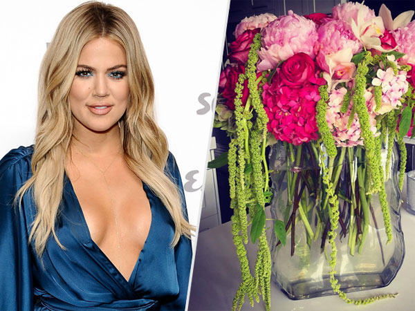 Khloe Kardashian Gives Tips For Perfectly Arranged Flower Bouquets