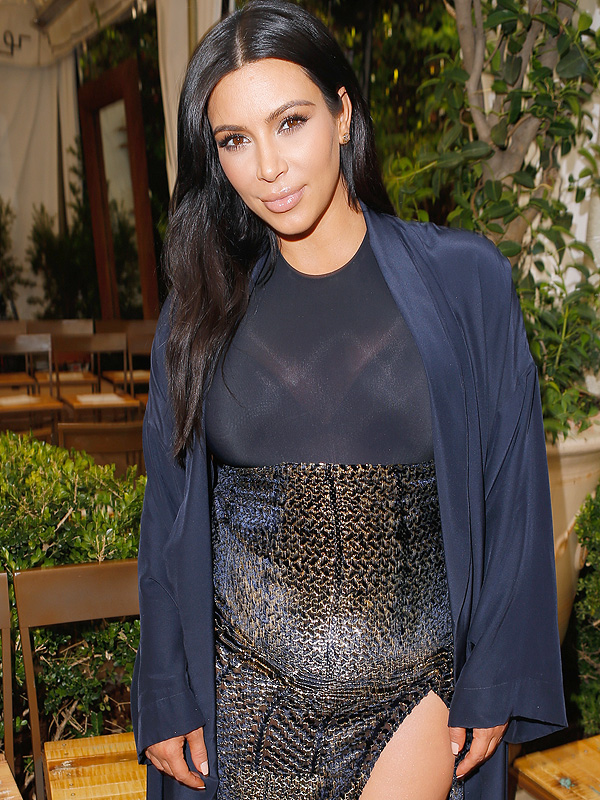 Kim Kardashian pregnant birthday cake