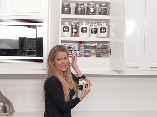 Khloe Kardashian Shows Off Her Perfectly Organized Baking