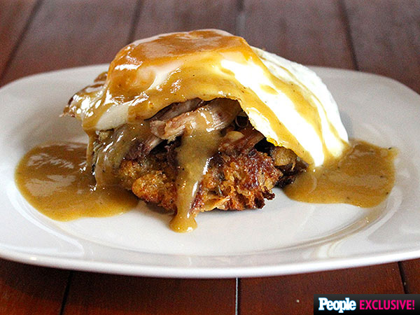Thanksgiving Leftovers Eggs Benedict recipe