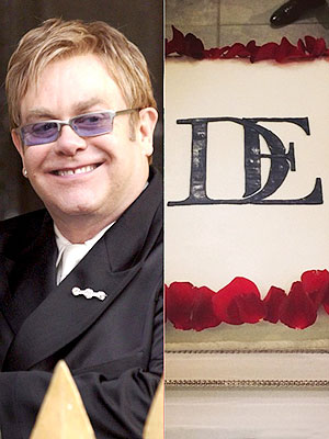 Elton John David Furnish Cake