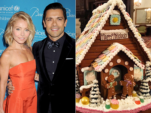 Kelly Ripa Gingerbread House