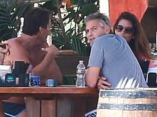 George and Amal Clooney Enjoy Christmas at the Beach with Famous Friends (PHOTOS)
