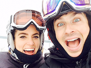 Watch Lovebirds Ian Somerhalder and Nikki Reed Hit the Slopes over the Holidays