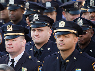 Hundreds Attend Funeral of Slain NYPD Officer Rafael Ramos