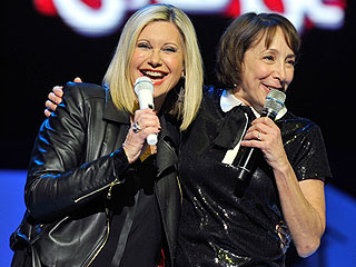Sandy and Frenchy Hold Mini Grease Reunion at Olivia Newton-John's Las Vegas Show