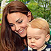 William, Kate and George Enjoy the Sun an