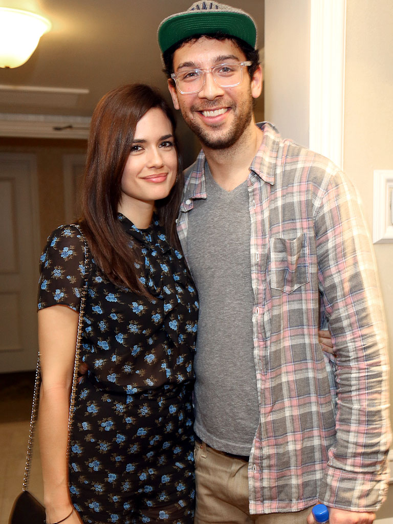 Torrey DeVitto with cool, Boyfriend Rick Glassman