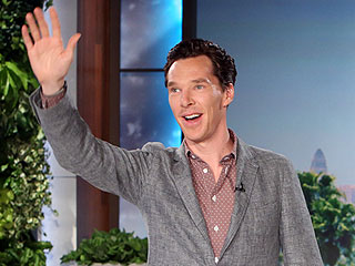 Ellen DeGeneres Teases Benedict Cumberbatch About That Golden Globes Photobomb