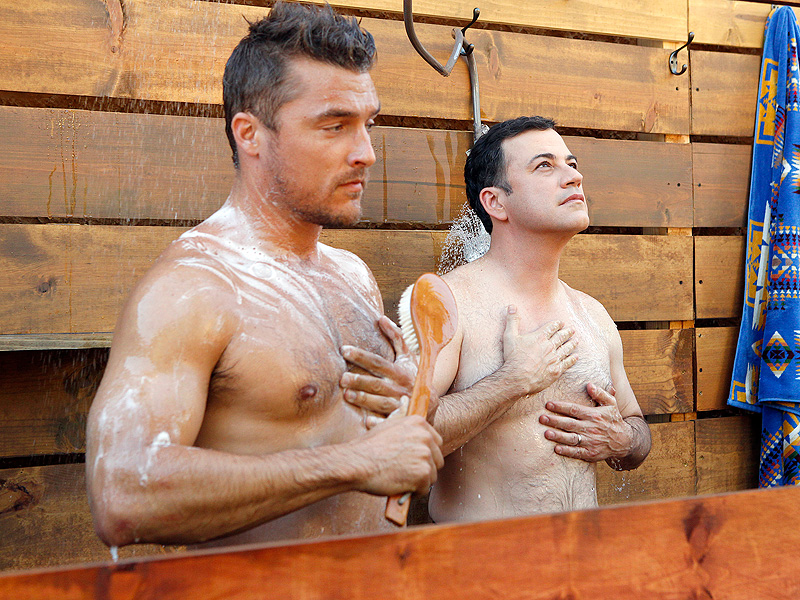 Jimmy Kimmel Pays a Steamy Visit to The Bachelor's Chris Soules in the Shower (PHOTOS)| The Bachelor, TV News, Chris Soules, Jimmy Kimmel