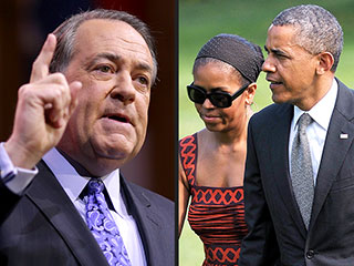 GOP's Mike Huckabee Questions the Obamas' Parenting of Sasha and Malia | Barack Obama, Michelle Obama