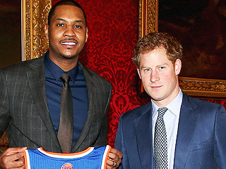 PHOTO: Prince Harry Meets with Knicks' Carmelo Anthony to Support Sports Mentorship Program