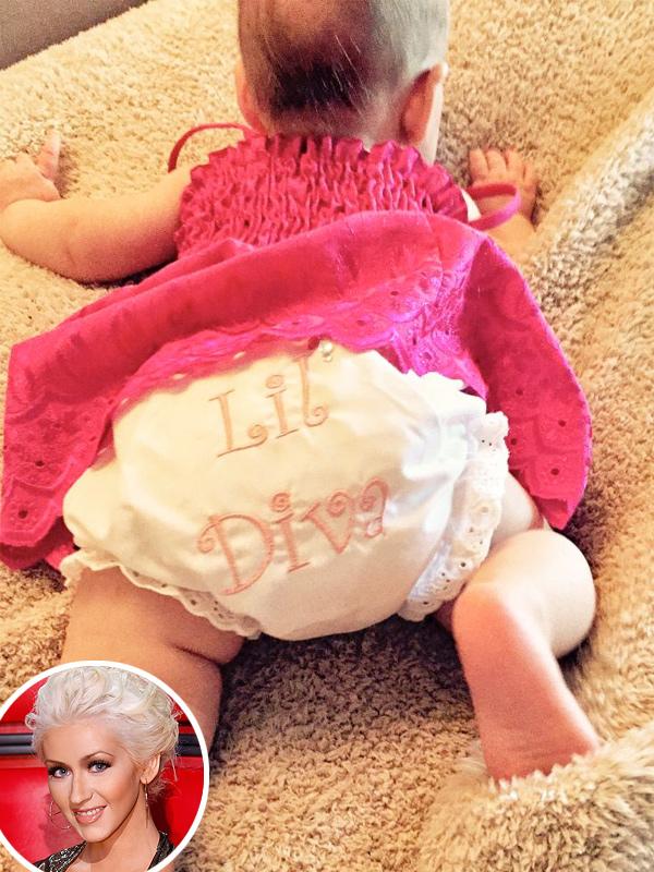 Christina Aguilera Baby Photo