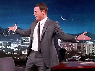 Channing Tatum Reunites (and Eats) with Imaginary Friend on Jimmy Kimmel Live!