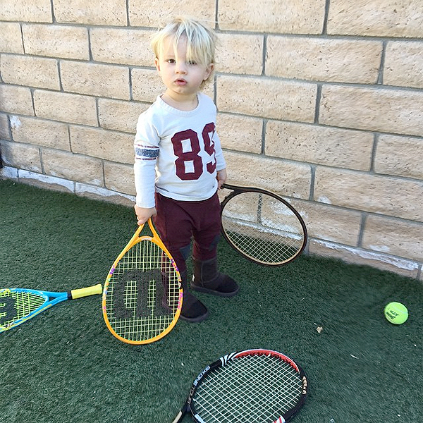 Jessica Simpson Son Ace Knute Tennis Photo