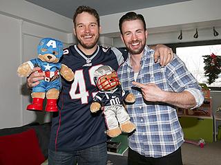 Chris Pratt Visits Sick Kids in Boston with Chris Evans, Making Good on His Super Bowl Bet