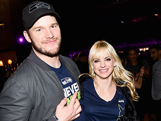 Chris Pratt and Anna Faris Let Loose at Super Bowl Party