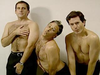 Steve Carell, Stephen Colbert and Jon Stewart Caught in Topless Attempt to 'Break the Internet'