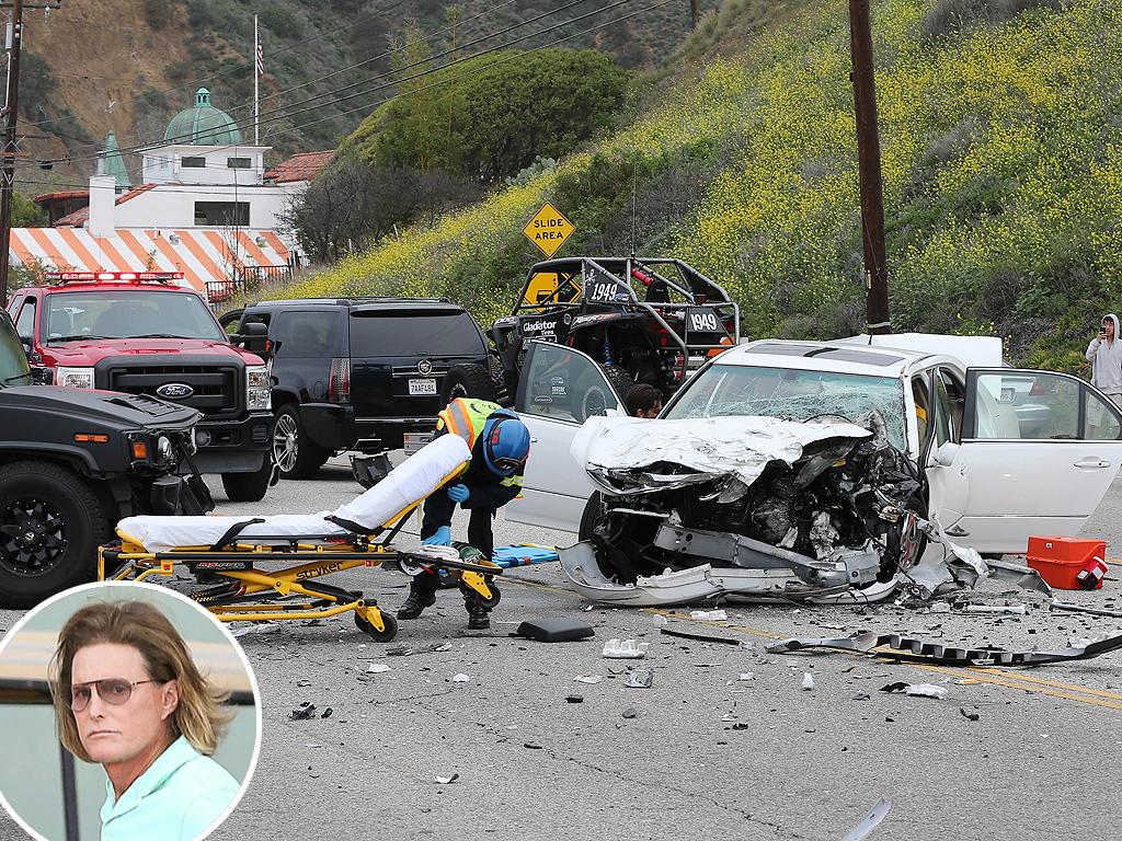 Bruce Jenner in Car Crash on PCH in Malibu
