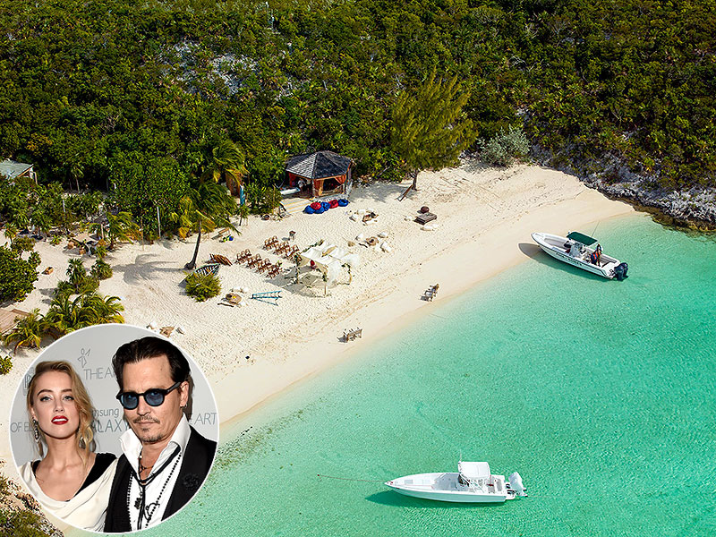 Johnny Depp and Amber Heard's Wedding on His Private Island