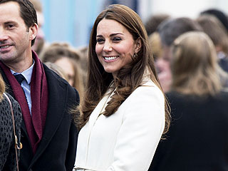 Kate Sports Seven-Month Bump in Portsmouth
