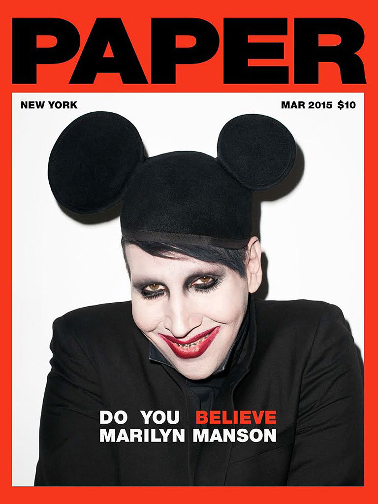 Marilyn Manson: Dressed As Mickey Mouse On Paper Mag Cover