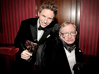 Stars Line Up to Meet Stephen Hawking at the BAFTAs | Eddie Redmayne, Stephen Hawking