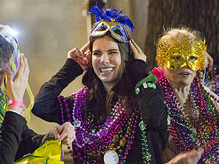 Sandra Bullock Celebrates Mardi Gras with Friends in New Orleans