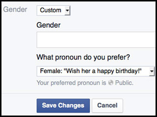 Facebook Now Lets You Write Your Own Custom Description for Gender