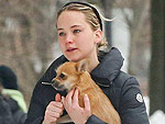 Jennifer Lawrence Stays in Shape by Spinning - and Her Dog Comes Too!