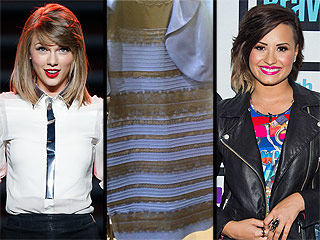 What Color Is This Dress? Taylor Swift, Demi Lovato and More Weigh in on DressGate
