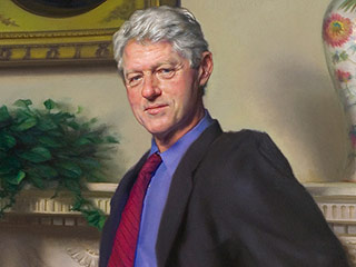 Bill Clinton Portrait Contains Hidden Monica Lewinsky Allusion, Artist Reveals