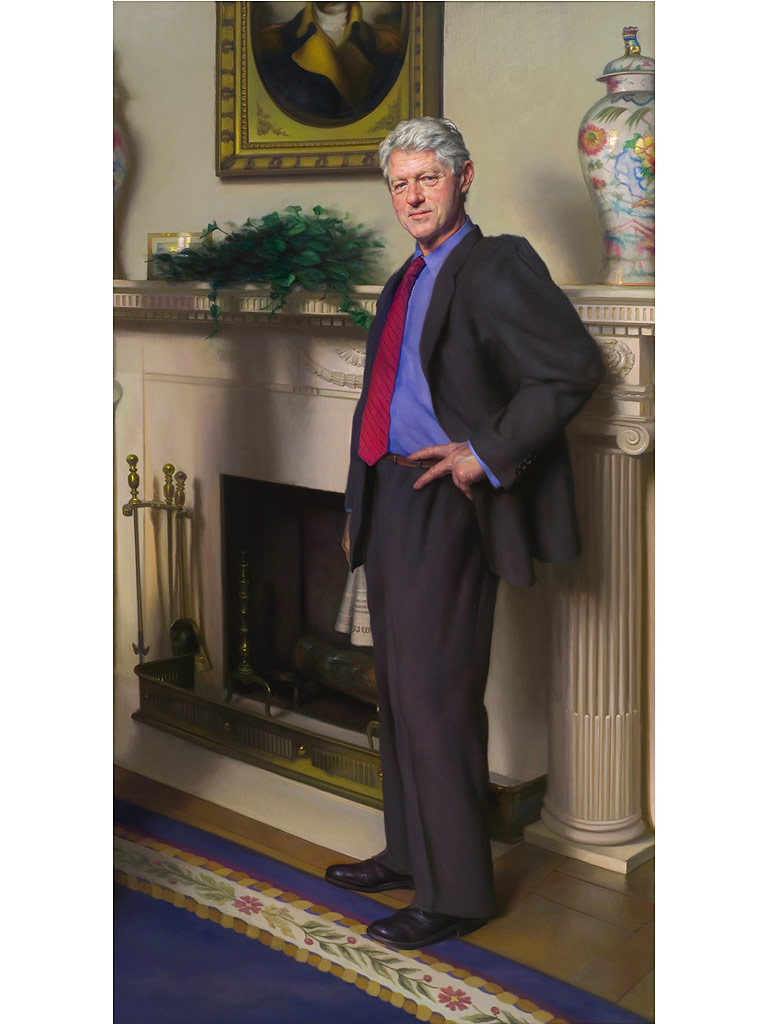 Bill Clinton Portrait Contains Hidden Monica Lewinsky