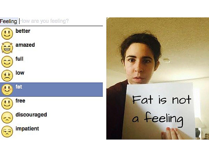 Facebook Fat Status Update Option