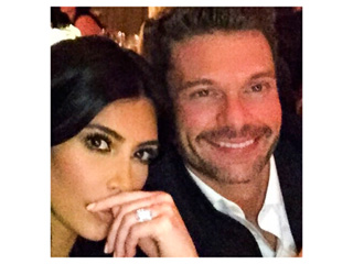 Kim and Khloé Help Ryan Seacrest Ring in His Belated Birthday in Napa
