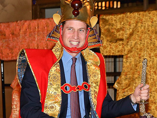 Prince William Becomes a Samurai – But Leaves the Wig in the Dressing Room