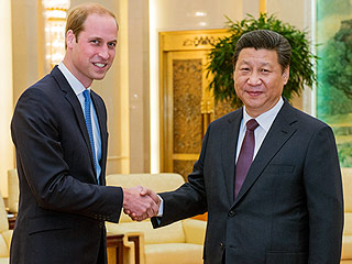 Prince William Meets with Chinese President During Landmark Visit