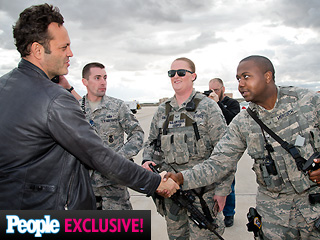 Vince Vaughn Gives Troops a Special Treat Ahead of His Polar Plunge