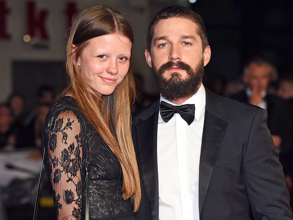Shia LaBeouf: Mia Goth Wears Engagement Ring : People.com Shia Labeouf Interview